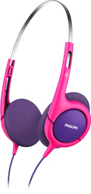 Philips SHK1031/00 Headphone(Pink & Purple, On the Ear)