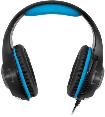 Shrih Flexible Mic Headphone(Black Blue, Over the Ear)