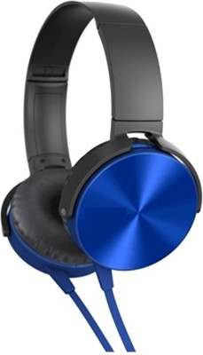 A Connect Z MDR-XB450-Stylish Amazing Headphn -224 Headphone(Blue, Over the Ear) 1