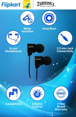 Zebronics ZEB-EM600 Wired Headphones