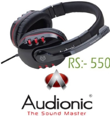 7c17e614fd8 Audionic Studio4 Professional Strong High Bass Digital Dynamic Stereo Over  The Ear Headphone Headset With Mic