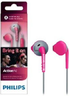 Philips SHQ1200TPK/00 Headphone(Pink, Grey, In the Ear)