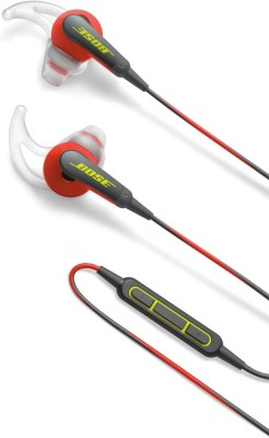Bose SoundSport Ie MFI Headset with Mic(Red, In the Ear)  available at flipkart for Rs.10013