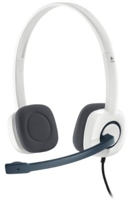 Logitech H150 Wired Headset with Mic(White, On the Ear) 1
