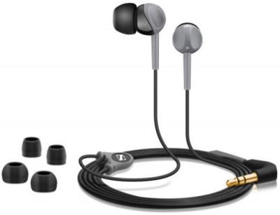 Sennheiser CX 180 Wired Earphones (Grey & Black)
