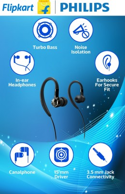 Philips SHS8100 Headphone(Black, In the Ear) 1