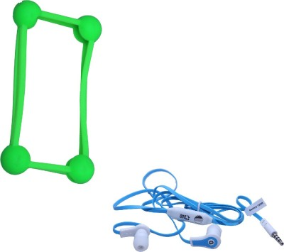 GND HF-FW-BU + CT-B6 Bumper Case for All Mobile Phones and Headphone(Green, Blue, In the Ear)