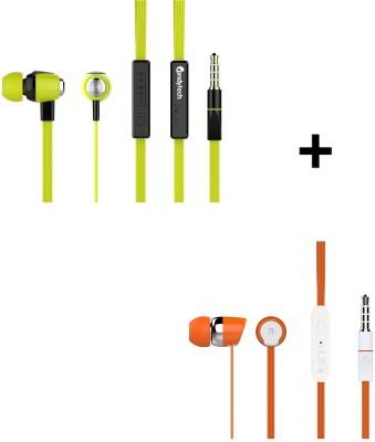 Candytech S-30-VC-GN + S-20-OG Headphone(Green, Orange, In the Ear)