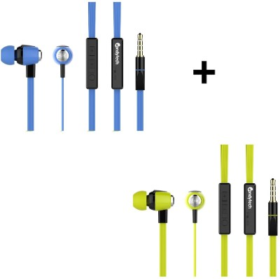 Candytech HF-S-20-GN+HF-UN-RD Headphone(Green, Red, In the Ear)