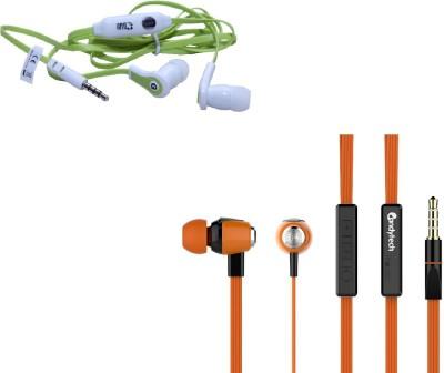 Candytech HF-S-30-VC-OG+HF-FW-GN Headphone(Orange, Green, In the Ear)