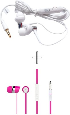 GND HF-UN-RD+HF-BS-PK Headphone(Red, Pink, In the Ear)