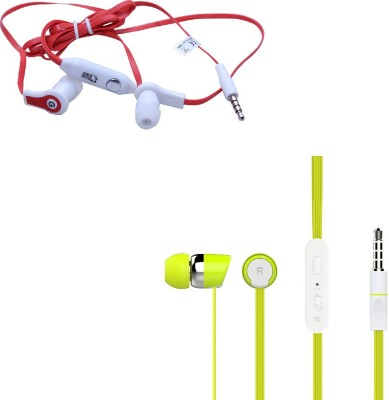 Candytech HF-S-20-GN+HF-FW-RD Headphone(Green, Red, In the Ear)