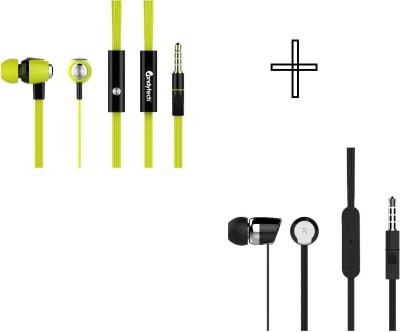 Candytech HF-S-30-GN+HF-S-20-BK Headphone(Green, Black, In the Ear)