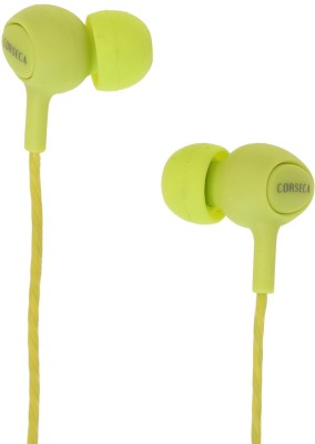 Corseca Sporty Bluetooth Headset without Mic(Green, Wireless in the ear)