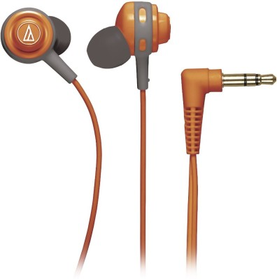 Audio Technica ATH-COR150 Wired Headset without Mic(Orange, Wired in the ear)