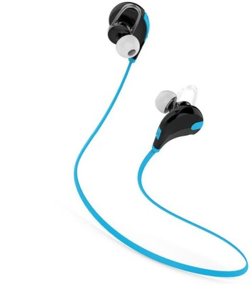 Mezire QY7 Headset bluetooth Headphones(Blue, In the Ear)