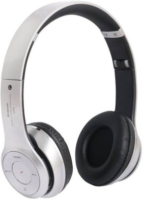 fiado s460 high bass bluetooth Headphone(Silver, Over the Ear) at flipkart