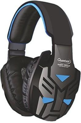 Quantum QHMPL QHM 855 Mic Vibration Bass Gaming Movie Music (Blue) Headphone(Black Blue, Over the Ear)