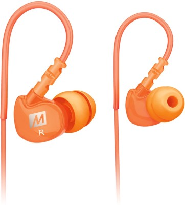 MEE Audio M6-OG Wired Headset without Mic(Orange, In the Ear)
