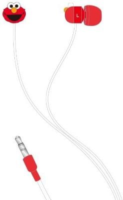 Gourmandise Sesame Street Stereo Earphone Ssm-29A[Japan Imports] Headphone(Red)