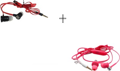 GND HF-BS-W+HF-S-20-PK Headphone(White, Pink, In the Ear)