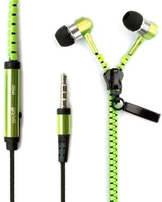 Fellkon Oppo Smartphones Wired Headset without Mic(Green, In the Ear)