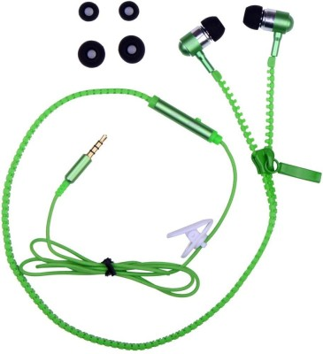 Fellkon Maxx Mobile Phones Wired Headset with Mic(Green, In the Ear) 1