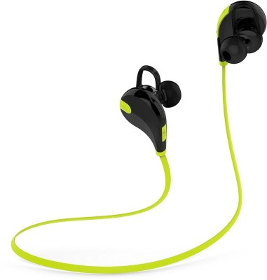 Techdizi Sport Bluetooth QY7 Wireless Bluetooth 4.1 Stereo Wireless bluetooth Headphones(Green, In the Ear)