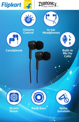 Zebronics ZEB-EM500 Wired Headphones