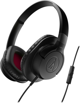 Audio-Technica ATH-AX1iSWH Over the Ear Headset, Black