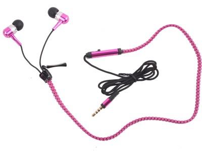 Hexadisk Zipperst-003 Headphone(Pink, In the Ear) 1