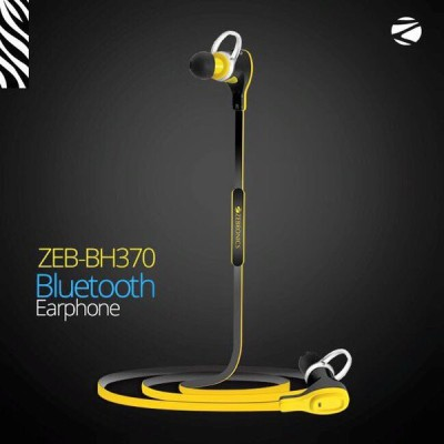 Zebronics BH370 Bluetooth Headset with Mic(Yellow, In the Ear) 1