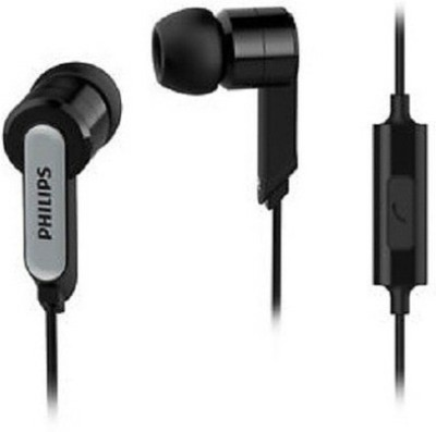 Philips SHE1505 Wired Headset with Mic(Black, In the Ear)