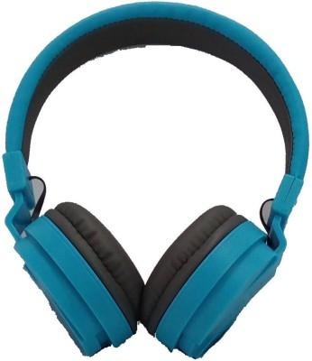 Shrih Blue Stereo Wired Headset with Mic(Blue, Over the Ear)