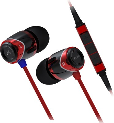 SoundMagic In-ear Headphone with Mic - E10M Wired Headset with Mic(Black Red, In the Ear) 1