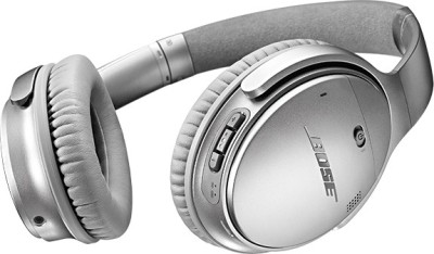 Bose QuietComfort 35 Bluetooth Headset with Mic(Silver, Over the Ear)