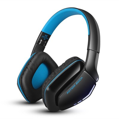Kotion Each B3506 Wired, Bluetooth Headset with Mic(Black/Blue, Over the Ear)