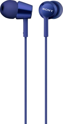 Sony MDR-EX150AP Wired Headset with Mic(Blue, In the Ear)  available at flipkart for Rs.1290