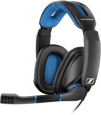 Sennheiser GSP 300 Wired Headset with Mic(Black and Blue, Over the Ear)