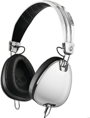 Skullcandy Aviator Headphones with Mic3 - S6AVFM-158 Wired Headset with Mic(White, Over the Ear) 1