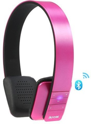 iKross Bluetooth 4.0 Stereo Bluetooth Headset with Mic(Pink, On the Ear) 1