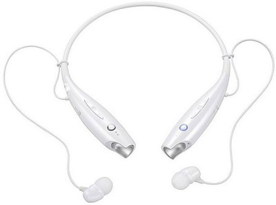 Shree Shop for lgtone+ HBS Stereo Dynamic Wired, Bluetooth Headset with Mic(White, In the Ear) 1