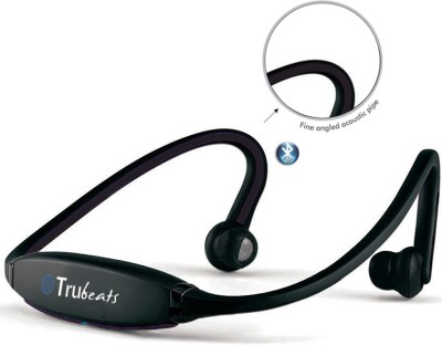 Medulla MED349 Trubeats Air BT Wireless Behind the Neck Headset Bluetooth Headset with Mic(Black, Over the Ear) 1