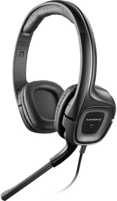 Plantronics AUDIO-355 Wired Headset with Mic(Black, Over the Ear) 1