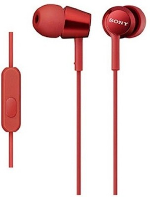 Sony MDR-EX150AP_Red Wired Headset with Mic(Red, In the Ear) 1