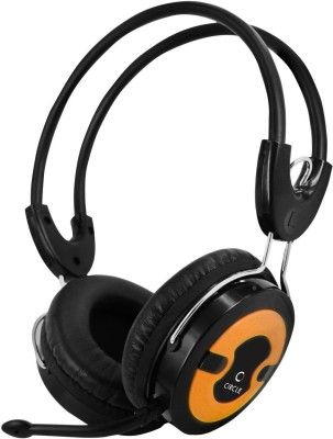 Circle Concerto Live 203 Orange Wired Headset with Mic(Orange, Over the Ear) 1