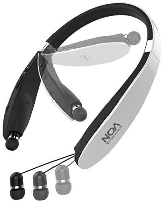 Mosche Bluetooth Headphones, NOA Bluetooth 4.1 Wireless Stereo Bluetooth Headsets with Retractable Bluetooth Earbuds with Mic for Cell Phone (Silver) Bluetooth Headset with Mic(Blue, In the Ear)