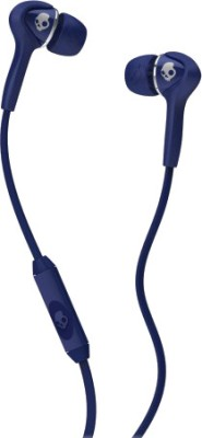 Skullcandy S2SBFY-130 Wired Headset with Mic(Navy Blue, In the Ear)