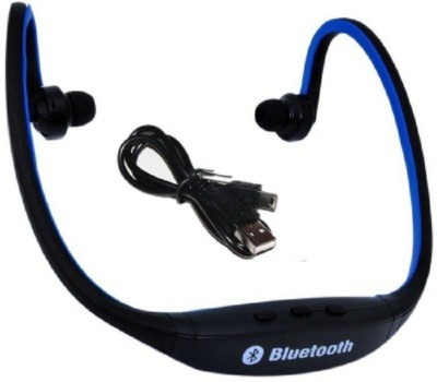 Aomax Sports For Men & Women Bluetooth Headset with Mic(Blue, In the Ear) 1