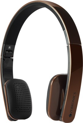 Zebronics Happy Head Brown Bluetooth Headset with Mic(Brown, On the Ear) 1
